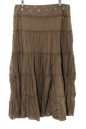Zero Broomstick Skirt brown casual look