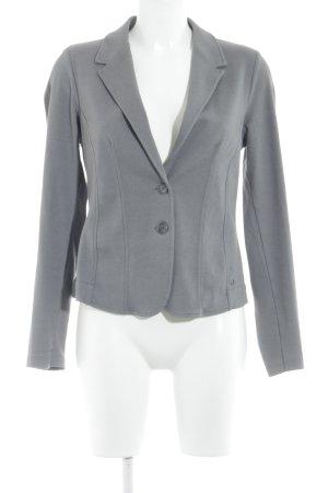Zero Blazer de tela de sudadera gris-gris claro moteado look casual