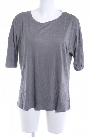 Zero T-Shirt grau Glitzer-Optik