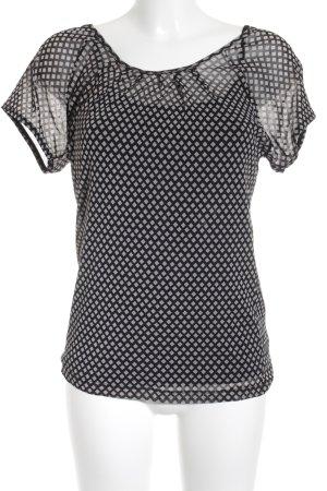 Zero T-Shirt schwarz-hellbeige Karomuster Casual-Look