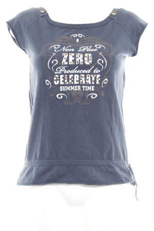 Zero T-Shirt stahlblau-dunkelorange Casual-Look