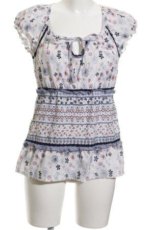 Zero T-Shirt weiß-himmelblau Casual-Look