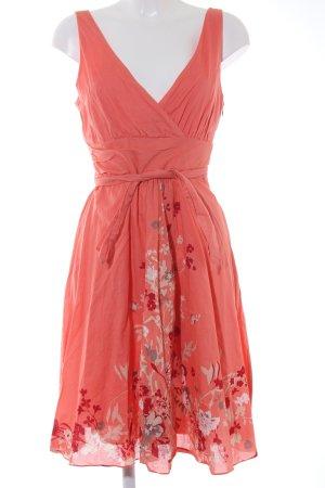 Zero Trägerkleid apricot florales Muster Casual-Look
