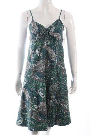 Zero Trägerkleid grün-petrol florales Muster Casual-Look