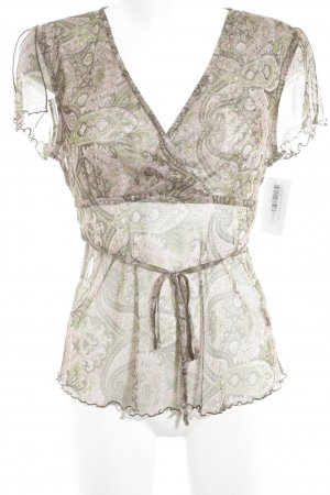 Zero Transparenz-Bluse florales Muster Casual-Look