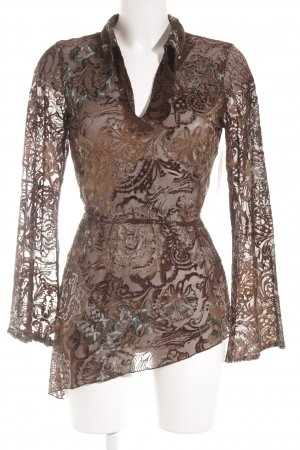Zero Transparenz-Bluse florales Muster Vintage-Look