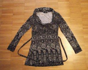 ZERO Tunika Longshirt Muster Gr. 36 Viskose+Elastan 1x getragen wie NEU