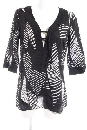 Zero Tunikabluse schwarz-weiß Streifenmuster Street-Fashion-Look