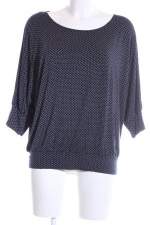 Zero U-Boot-Shirt blau-weiß Allover-Druck Business-Look