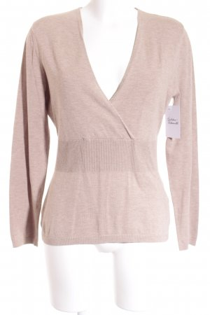 Zero V-Ausschnitt-Pullover beige Casual-Look