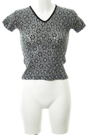 Zero V-Ausschnitt-Shirt schwarz-weiß Casual-Look