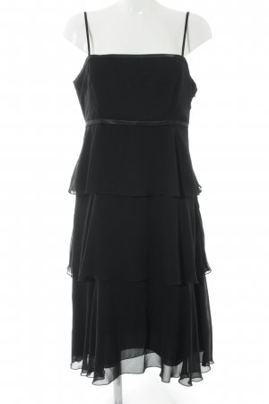 Zero Volante jurk zwart feest stijl