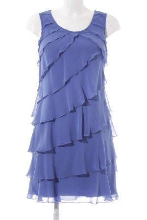 Zero Vestido estilo flounce azul acero elegante