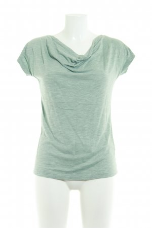 Zero Cowl-Neck Shirt sage green casual look