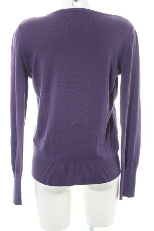 Zero Blouse portefeuille violet Aspect de combinaison de matériaux