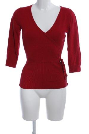Zero Wraparound Shirt red business style