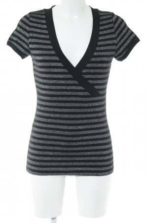 Zero Wraparound Shirt black-silver-colored striped pattern casual look