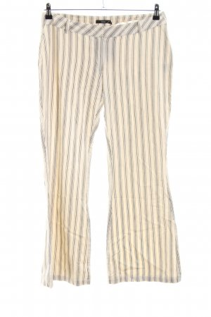 Zero Woolen Trousers natural white-light grey allover print casual look