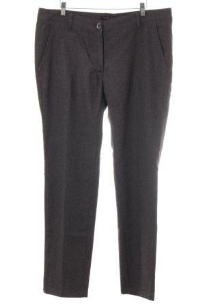 Zero Wollen broek donkergrijs-lichtgrijs gestippeld zakelijke stijl