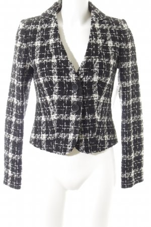 Zero Wolljacke schwarz-weiß Mustermix Elegant
