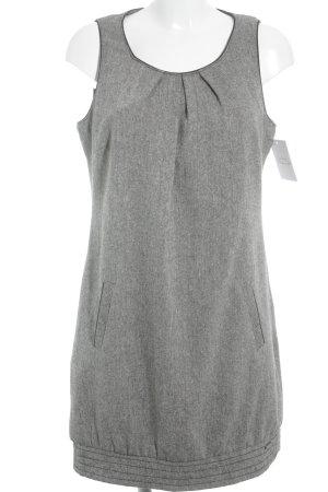 Zero Vestido de lana beige-marrón oscuro look casual