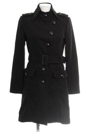 Zero Abrigo de lana negro elegante