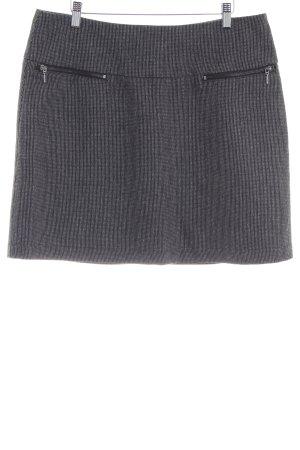 Zero Wollen rok zwart-grijs zakelijke stijl