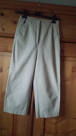 Zerres High Waist Trousers sand brown cotton