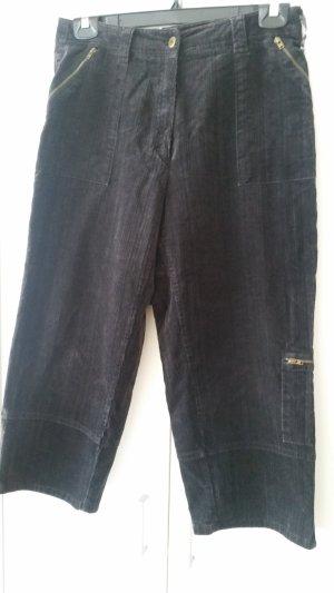 Zerres Pantalone di velluto a coste marrone scuro