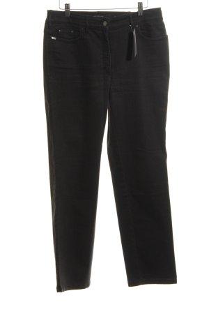 Zerres High Waist Jeans schwarz Business-Look