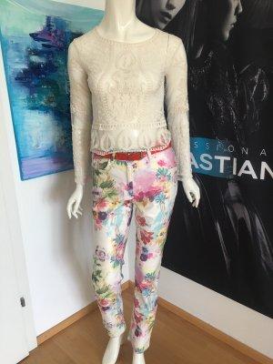Zerres Hose floraler Print 38 Straight cut Blusenshirt Boutique Italien