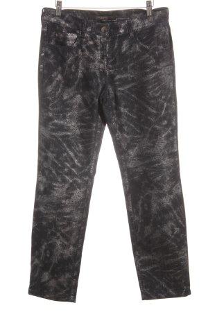 Zerres Röhrenjeans dunkelblau-silberfarben Jeans-Optik