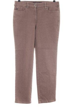 Zerres Straight-Leg Jeans braun Business-Look
