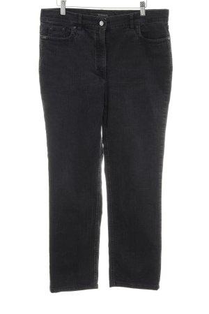 Zerres Straight-Leg Jeans schwarz Glitzersteinverzierung
