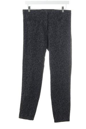 Zerres Stretch broek zwart-grijs abstract patroon casual uitstraling