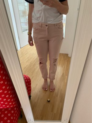 H&M Divided Boyfriend Trousers pink