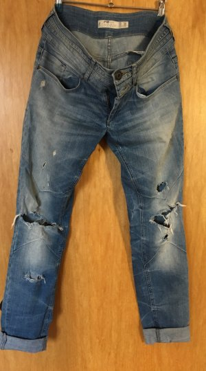 Fishbone Jeans cigarette bleu