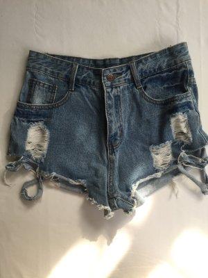 Zerrissene Jeans Shorts