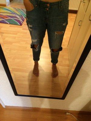 Zerrissene Jeanshose
