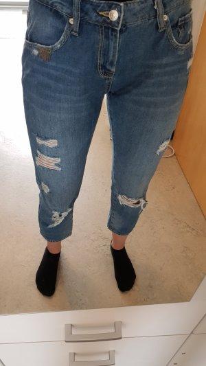Zara Jeans a 7/8 grigio ardesia