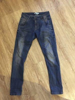 Zhrill Boyfriend jeans blauw Katoen