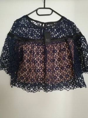 Zibilondon Crop Lace Top Navy 40