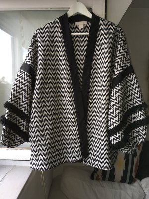 H&M Oversized Jacket white-black