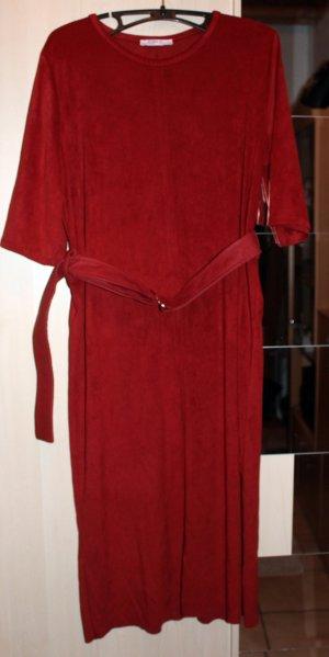 ziegel / karmin-/ dunkelrotes Kleid von Zara, Gr. M (40/42)