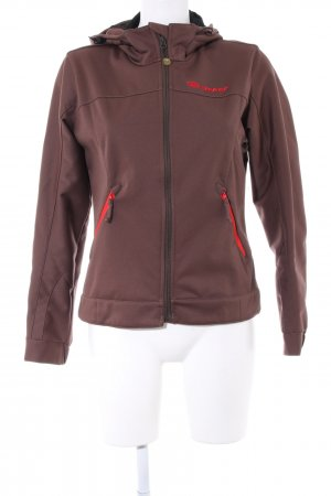 Ziener Outdoorjacke braun Casual-Look