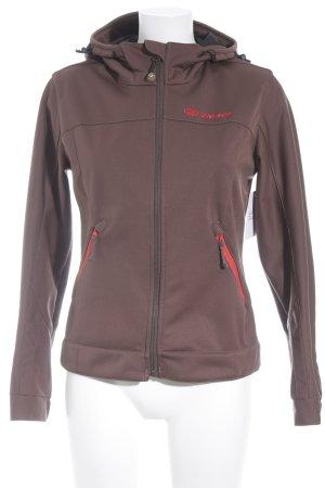 Ziener Outdoor Jacket brown-bright red polyester