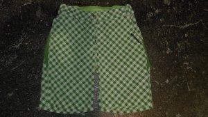 Ziener Short de sport vert prairie-blanc