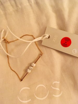 COS Bracelet white-gold-colored
