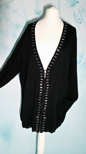 Zierperlen Reißverschluss lange Strickjacke 2 XL ( 46) Neuwertig