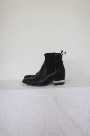 Zign Ankle Boots Booties Leder Chelsea Stiefeletten schwarz Gr. 38